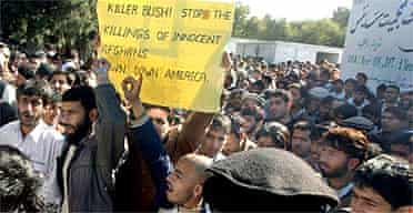 Afghan students protest against the killing of civilians by US troops