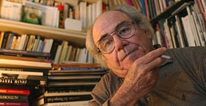 The French philosopher and sociologist, Jean Baudrillard, at his home in Paris, in 2001. Photograph: Eric Feferberg/AFP