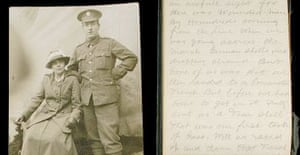 The diary and photographs of Private Walter Hutchinson, who fought in the first day of the Battle of the Somme in 1916. Photograph: Dix Noonan Webb/PA