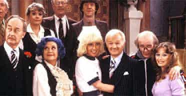 John Inman and the rest of the cast of Are You Being Served? cast