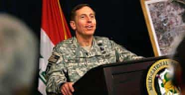 General David Petraeus gives his first press conference since taking over command of US forces in Iraq
