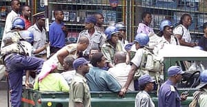 Opposition activists thought to be on their way to a Harare prayer rally are arrested yesterday