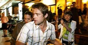 Brad Pitt and Angelina Jolie on a visit to Ho Chi Minh City