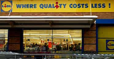 The Lidl supermarket in Tottenham Hale retail park, north London.