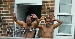 Two of the alleged July 21 bombers, Muktar Said Ibrahim (left) and Ramzi Mohammed during their arrest in London.