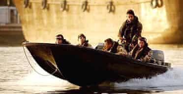 British troops patrol the Shatt al-Arab waterway off Basra