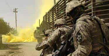 US soldiers in Baquba, Iraq