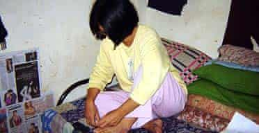 Sharon, a Chin woman who escaped to India after being raped by Burmese soldiers