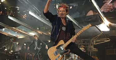 Keith Richards performs at Twickenham with The Rolling Stones as part of their A Bigger Bang world tour.