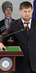 The Chechen president, Ramzan Kadyrov