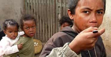 Children living in poverty in MadagascarChildren living in poverty in Madagascar