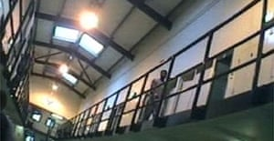 A screen grab from the investigation by Eric Allison for Panorama on the prison system
