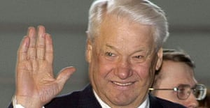 Former Russian president Boris Yeltsin photographed in Tokyo in 2003.