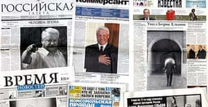 Russian newspapers on the death of Boris Yeltsin