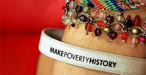 A 'Make Poverty History' wristband