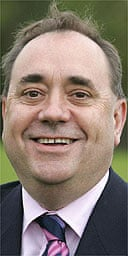 SNP leader Alex Salmond arrives in Aberdeen after a day's campaigning throughout Scotland