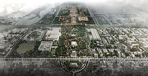 Chinese architect Ma Yansong's model for a greener, cleaner Tiananmen Square
