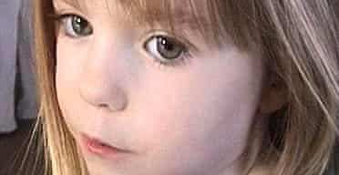 Madeleine McCann, who has been missing for almost four months