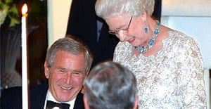 The Queen teasing George Bush