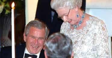 The Queen teasing George Bush
