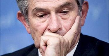 The World Bank president Paul Wolfowitz