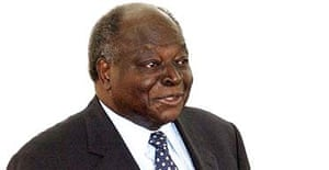 Kenya's president, Mwai Kibaki
