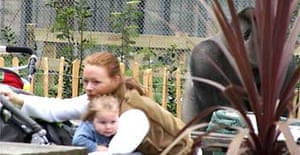 People react as the escaped gorilla Bokito roams the Diergaarde Blijdorp zoo in Rotterdam. The animal injured two people. Photograph: Fam Schaar, via Foto Roel Dijkstra/AP