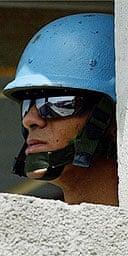 A UN peacekeeper