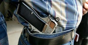 Armed bodyguard in Iraq