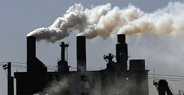 Smoke billows from a factory on the outskirts of Shenyang, in China's Liaoning province