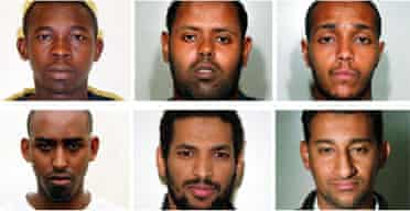 The six accused in the July 21, 2005 attempted bombings