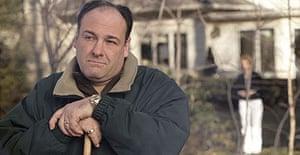 James Gandolfini as Tony Soprano in a scene from one of the last episodes of The Sopranos.