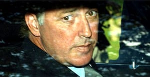 Michael Barrymore leaves Epping district council offices in September 2002 after an inquest into the death of Stuart Lubbock