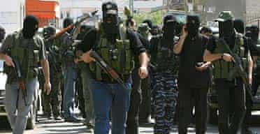 Heavily armed Hamas fighters