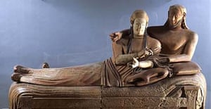 The Bride and the Bridegroom, one of the great Etruscan works of art