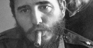 The Cuban president Fidel Castro, seen here in 1959
