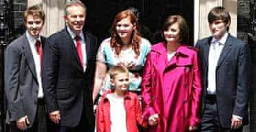 The Blair family leaves Downing Street