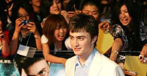 Daniel Radcliffe at the world premiere of Harry Potter And The Order Of The Phoenix in Tokyo