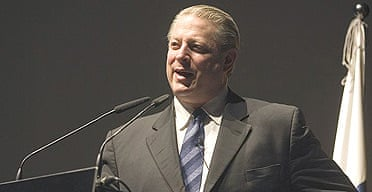 Former US vice-president Al Gore speaks during a conference on climatic change in Santa Cruz, Tenerife.