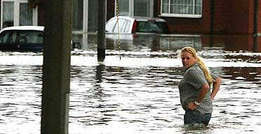 A resident caught up in the flooding in Toll Bar near Doncaster