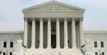 The US supreme court in Washington.