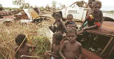 Aboriginal children in Kakadu National Park
