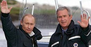 Presidents Vladimir Putin and George Bush
