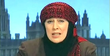 A screen grab from IRNA TV, Iran's new state-run English-language 24-hour news, shows presenter Yvonne Ridley