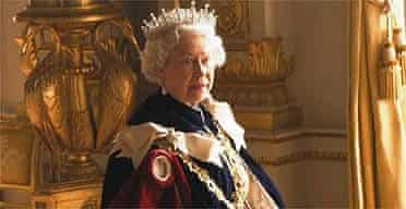 The Queen reacts to a request by photographer Annie Leibovitz to remove her crown