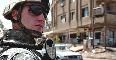 A US checkpoint in Baghdad