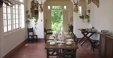 The dining room in Ernest Hemingway's house, Finca Vigia in San Francisco de Paula, Cuba.