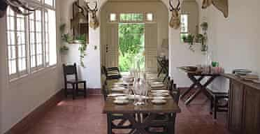 The dining room in Ernest Hemingway's house, Finca Vigia in San Francisco de Paula, Cuba.