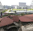Earthquake damage outside Japan's Kashiwazaki-Kariwa nuclear power plant, the largest facility of its kind in the world