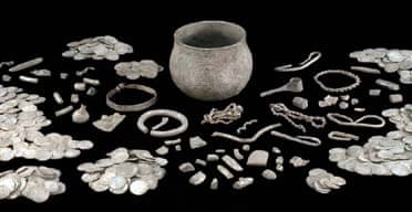 Some of the found treasure on display at the British Museum
